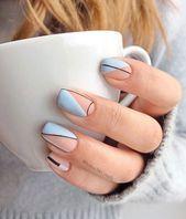 More than 40 cute nail designs Summer designs 2020 # # Cute Summer Nail Designs, Cute Summer Nails, Short Nail Designs, Cute Nails, Pretty Nails, Nail Summer, Natural Nail Designs, French Nail Designs, Nail Designs Spring