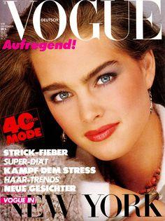 Brooke Shields by Bill King Vogue Deutsch September 1980