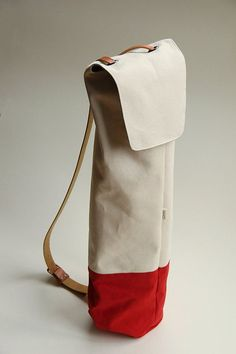 {waxed cotton yoga bag}: