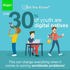 #DidYouKnow - 30% of youth = #digital natives. This can change everything when it comes to solving #worldwide problems!