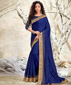 Chanderi Silk Saree Chanderi Silk Saree, Silk Sarees, Long Cut, Spring Sale, Blouse Online, How To Dye Fabric, Head To Toe, Color Shades, Blue Fabric