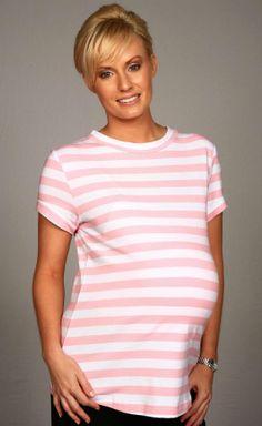 Soft Cotton Maternity Striped TShirt by LoveEtcbyMiEmporium, $19.95