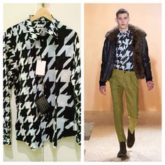 Paul Smith Houndstooth Shirt. Fall Winter 2013 Collection.