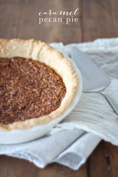 The BEST Caramel Pecan Pie recipe with an unbelievably amazing texture