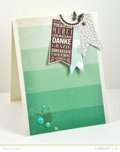Thanks - Studio Calico Marks & Co. Card Kit by dawnsing - Cards and Paper Crafts at Splitcoaststampers