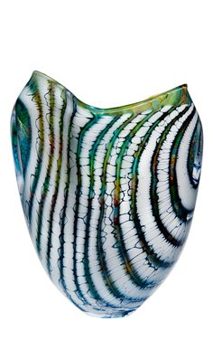 Tahiti/Glacier Flared form, a Highlight from the Peter Layton Archive ( Lot 02 in recent Auction) avail from London Glassblowing Sho
