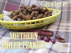 "Here's my ""Yankified"" version aka FAST of ""Southern Boiled Peanuts"""