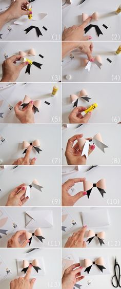 DIY paper bow tutorial by kris Diy Paper, Paper Crafts, Paper Bows, Paper Ribbon, Bow Tutorial, Diy Room Decor, Home Decor, Diy Gifts, Cheer Gifts