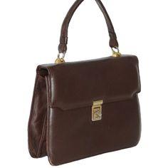 Vintage dark brown leather handbag | Online Shop – Women's, men's ...