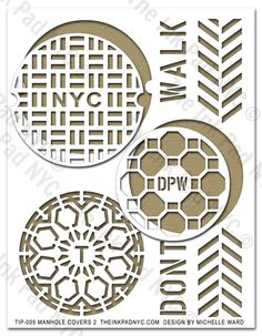 NYC Manhole Cover Stencil - The Ink Pad - design by Michelle Ward