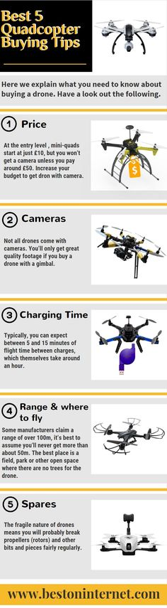 If you are planning to buy Quadcopter and you don't have much knowledge about it. So look out this infographic, here are you see best 5 buying tips of #Quadcopter. http://www.bestoninternet.com/compute/electronics/diy-drone-kits-camera/