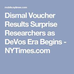 Dismal Voucher Results Surprise Researchers as DeVos Era Begins - NYTimes.com