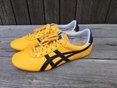 Men's Onitsuka Tiger By Asics Yellow Black Fashion Sneaker Size 8.5 Tennis shoe #OnitsukaTiger #RunningCrossTraining