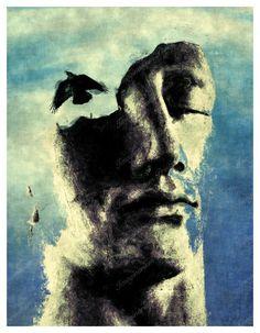 spiritual awakening 8x10 digital painting fine art by TaoLight, $35.00