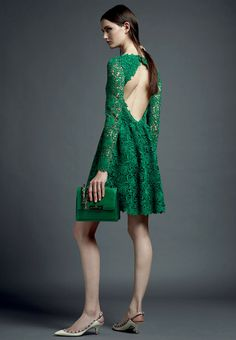 Valentino Pre-Spring/Resort 2013 — Pantone 2013 Color of the Year: 17-5641 Emerald