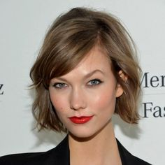 "THE KARLIE BOB | When model Karlie Kloss chopped her locks, she STOOD OUT! Versions of the cut dubbed ""The Karlie"" have since been seen on Jennifer Lawrence, Julianne Hough, Dianne Agron, Rose Birkin and Kerry Washington, to name a few. And, The New York Times, Vogue and Allure were drooling over this above the shoulder bob with layers and bangs (or not), basically a take on the 1960's Jane Birkin look. Learn more at: http://www.samvilla.com/blog/2013/07/the-karlie-bob/"
