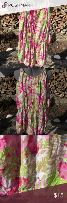 VS Flower Romper Worn twice and washed VS Romper! Flowy and light perfect over a bathing suit ! Always open to offers and discounts on bundles! Victoria's Secret Dresses