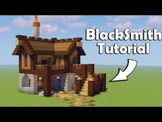 Minecraft: How to build a Blacksmith ( Tutorial ), Minecraft Building Blueprints, Minecraft Mods, Easy Minecraft Houses, Minecraft Plans, Minecraft House Designs, Minecraft Decorations, Minecraft Survival, Minecraft Tutorial, Minecraft Crafts