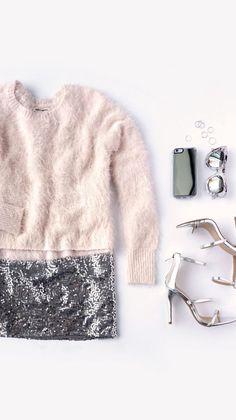 come vestirsi alla moda quando fa molto freddo, come vestirsi bene quando fa freddo, theladycracy.it, elisa bellino, fashion blog italia, FLUFFY AND SEQUINed skirt