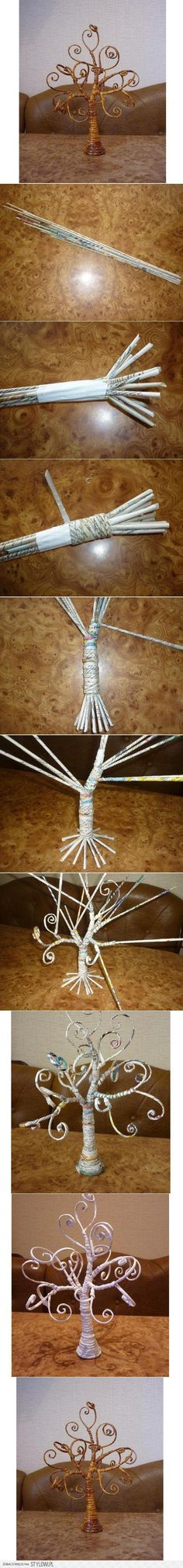 DIY Fabulous Newspaper Tree DIY Projects | UsefulDIY.co… na Stylowi.pl