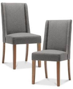 Brody Set of 2 Wing Dining Chairs, Direct Ship