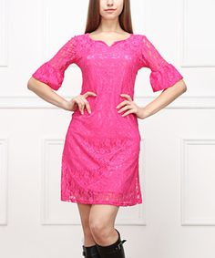 Loving this Fuchsia Lace Sweetheart Dress