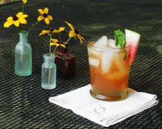 Sweet Tea Cocktail. Rooibee Red Tea Watermelon Mint & vodka