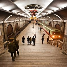 Pyongyang subway station --- Fascinating to find a picture of this!