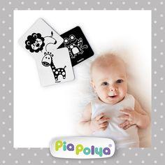 • 03-12 ay çocuklar için tasarlanmış, siyah beyaz hayvan çizimlerinden oluşmaktadır. • İçeriği: 118mm x 118mm, kalın mukavva ve selefon kaplı 12 karakter, 12adet zeka geliştirci oyun kartlarıdır. • Bebekler doğduklarında retinaları tam olarak gelişmediğinden yüksek kontrastlı siyah ve beyazı algılayabilirler. Buna rağmen, sürekli iletişim halinde, çevrelerindeki herşeyi izlemekte, algılamakta ve keşfetmektedirler.