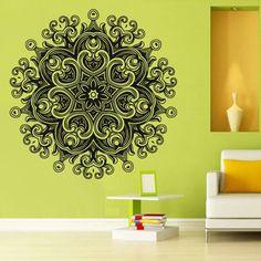 Wall Decal Vinyl Mural Sticker Art Decor Bedroom Yoga Kitchen Ceiling Mandala Menhdi Flower Pattern Ornament Om Indian Hindu Buddha Photo Frame (Z2885) StickersForLife http://www.amazon.com/dp/B00LN78ZV0/ref=cm_sw_r_pi_dp_U1Vfvb0VYW2RE