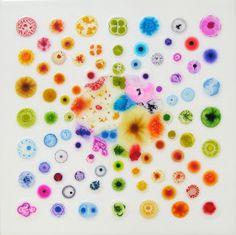 William Loveless glue paintings