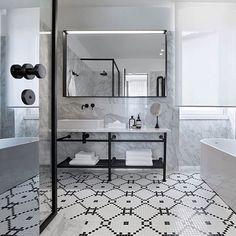 Hotel Adriatic, Istria Croatia 3LHD Architects Photo © Dusko Vlaovic #hoteldesign #designhotel #bathroom #bathroomdesign #hotelbathroom #monochrome #marble #tiling #flooring #tiles #hoteladriatic #Croatia
