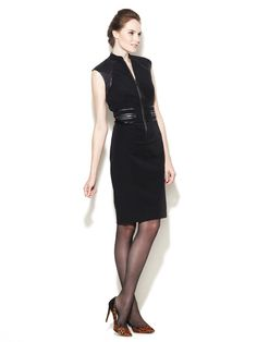 Magaschoni Techno Quilted Cap Sleeve Dress