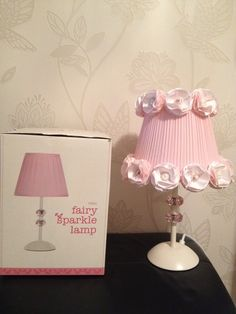 DIY girls lampshade. Beautiful and sparkly. All made by me. So pleased with the result. X