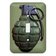 Hey, I found this really awesome Etsy listing at https://www.etsy.com/listing/89016021/hand-grenade-light-switch-plate-cover