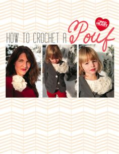 How to Crochet a Pouf with FREE printable pattern!