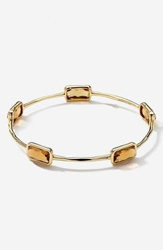 Ippolita 'Rock Candy - Gelato' 18k Gold Station Bangle available at #Nordstrom