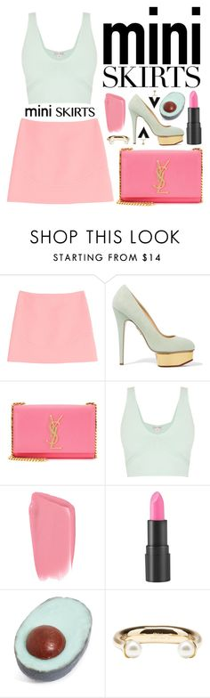 """""""Mini Me: Cute Skirts"""" by miee0105 ❤ liked on Polyvore featuring Emilio Pucci, Charlotte Olympia, Yves Saint Laurent, too cool for school, Dirty Grl and Chloé"""