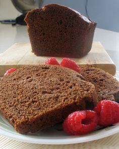Chocolate Chili Cake. Quick and easy cocoa loaf cake with a hint of heat from chili powder. Not too sweet, it pairs well with fresh raspberries or even a pat of butter for a bit more richness.