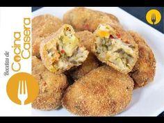 Croquetas de verduras | Recetas de Cocina Casera - Recetas fáciles y sencillas