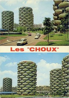 "If Ernest Hemingway made Paris a moveable feast, architect Gérard Grandval made its Créteil suburb the vegetable course. Built during the 1970s, the Créteil Cabbages, or ""Choux de Créteil,"" are French Brutalism at its finest. The 'utopian' residency is composed of 10 otherworldly buildings whose bal"