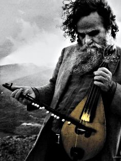 """hellas-inhabitants: """" Antonis Xylouris, nicknamed Psarantonis, is a Greek composer, singer and performer of lyra, the bowed string instrument of Crete and most popular surviving form of the medieval..."""