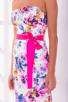 Лёгкое летнее  платье- корсет фасона  бандо на косточках-регленах. Цветочный a99de5f6554