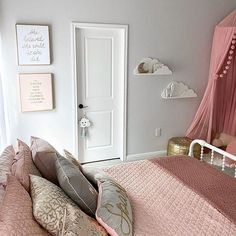 Soft pinks and soft clouds ☁ Just posted some updates about Ziya's bedroom to my story! Finally adding finishing touches, and then this will be the first official fully decorated room in the house! #homedecor #girlsroom #toddlerroom #pinkbedroom Furniture, Interior, Toddler Room, House, Bedroom, Pink Bedroom, Home Decor, House Interior, Room