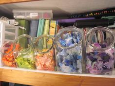 candy jar - flower storage - Scrapbook.com