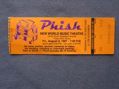 Phish, New World Music Theatre, 8/8/1997, 27.75
