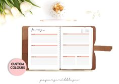 2016-2017 Week on Two Pages Planner, Agenda, Weekly Planner Printable Inserts, Dated Planner, Printable Planner, Custom Color, Filofax by PaperScribblesCo on Etsy https://www.etsy.com/au/listing/471536695/2016-2017-week-on-two-pages-planner