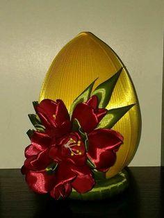 Amazing Gardens, Beautiful Gardens, Coconut Decoration, Ribbon Art, Egg Decorating, Diy Garden Decor, Spring Crafts, Flower Making, Easter Crafts