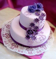 Cake Decorating, Desserts, Food, Cakes, Google Search, Purple, Lilac, Dekoration, Tailgate Desserts