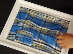 DIY clothing boards using clothes from thrift store and putting them inside a… Kids Study, Physical Development, Preschool Kindergarten, Eyfs, Craft Activities For Kids, Diy Clothing, Fine Motor Skills, Dressing, Handmade Toys